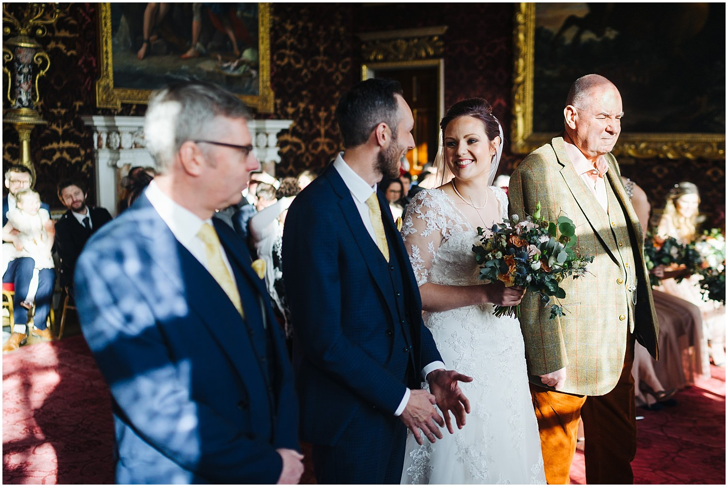 holkham hall, summer wedding, natural, wedding photograper , classic, Marble Hall, Statue Gallery, grand Saloon